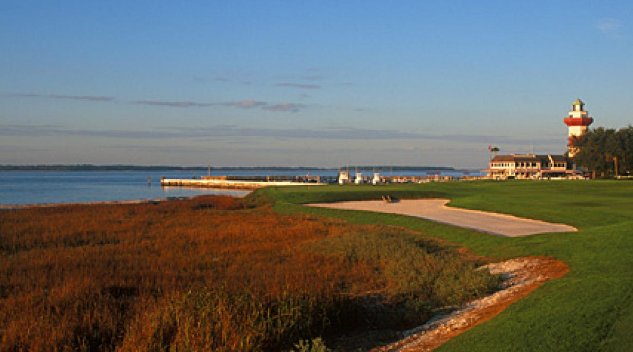 The famous 18th hole at Harbour Town.