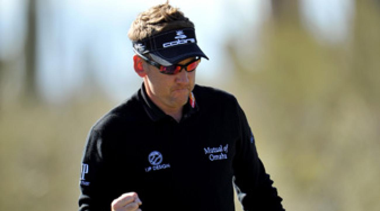 Ian Poulter beat Tim Clark and Steve Stricker on Saturday.