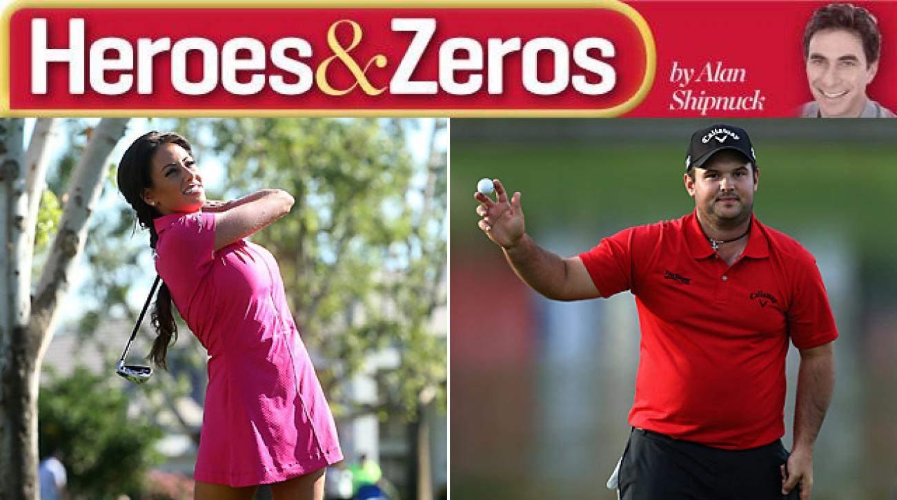 Holly Sonders and Patrick Reed find themselves on the heroes list this week.