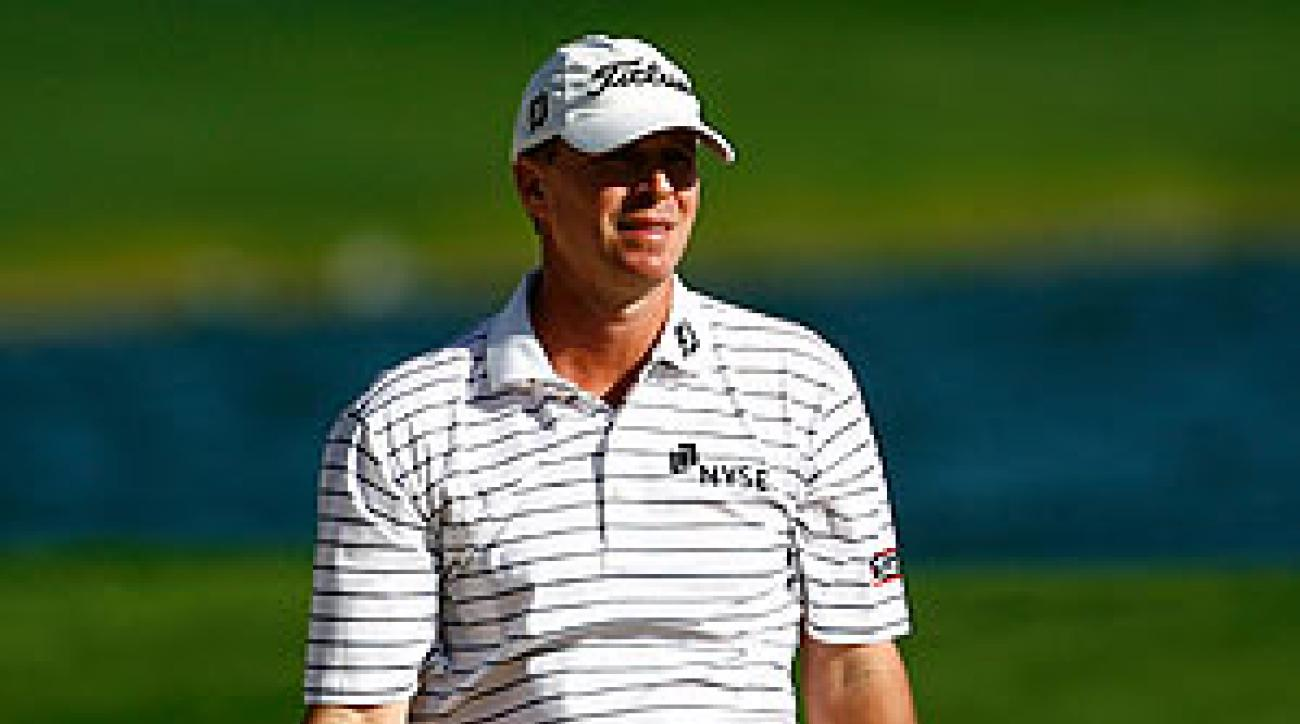 Steve Stricker collapsed in the final round of the Bob Hope Classic with a quadruple bogey and a triple bogey.