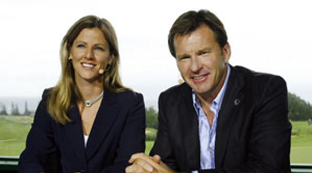 Kelly Tilghman with co-host Nick Faldo.