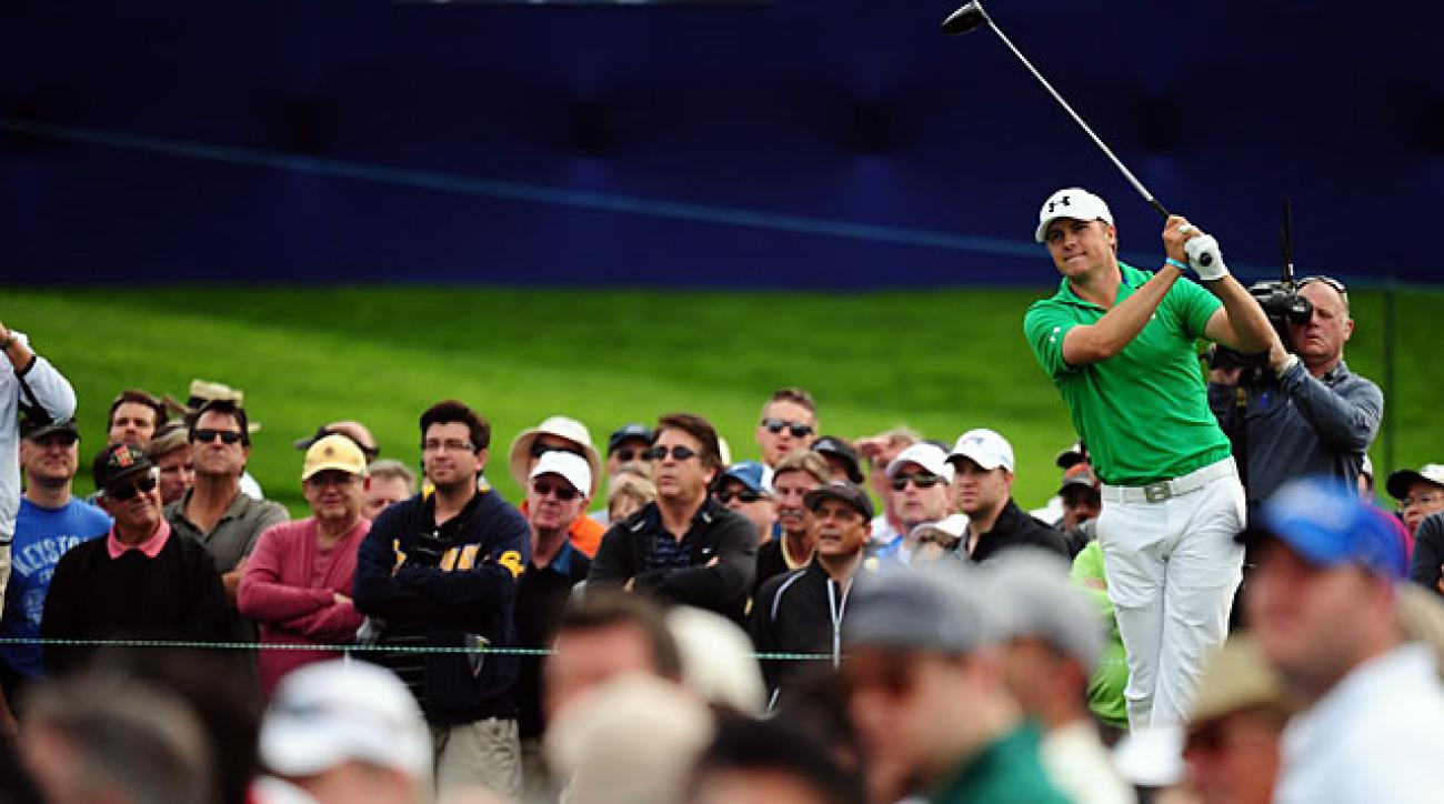 Jordan Spieth shot a second-round 63 to move into the lead at the Farmers Insurance Open.