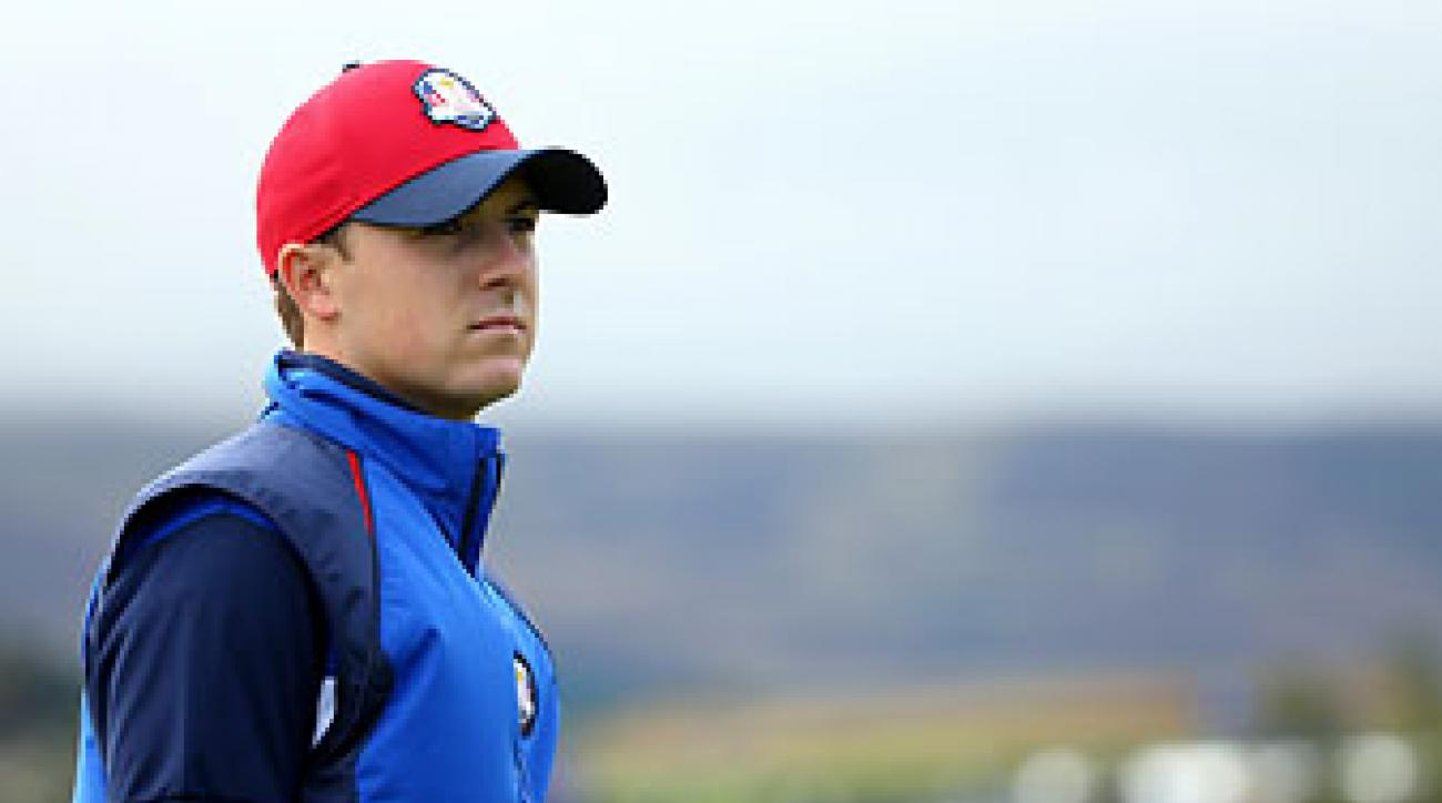 Jordan Spieth during a Ryder Cup practice round Thursday in Gleneagles, Scotland.