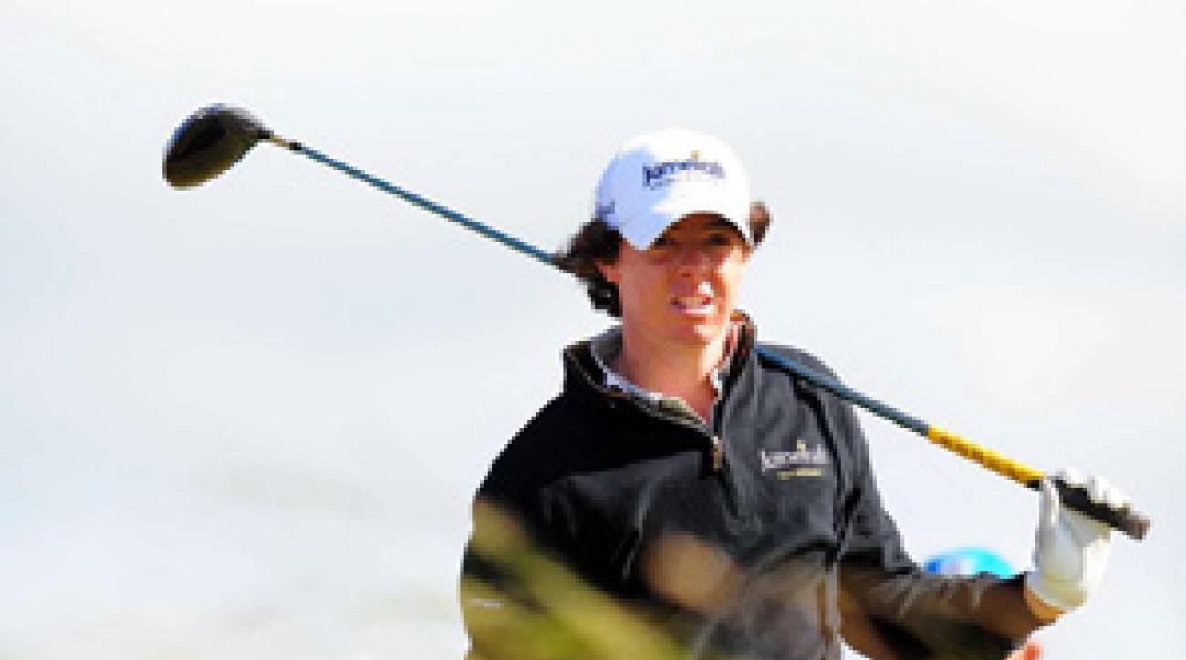 Rory McIlroy made six bogeys and a double bogey, a day after shooting a 63.