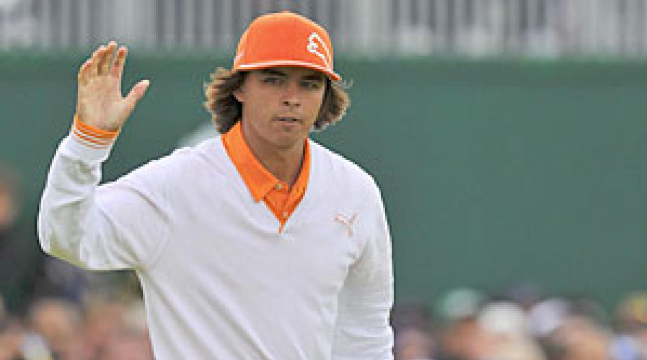 Rickie Fowler tied for fifth place, his best showing in a major.