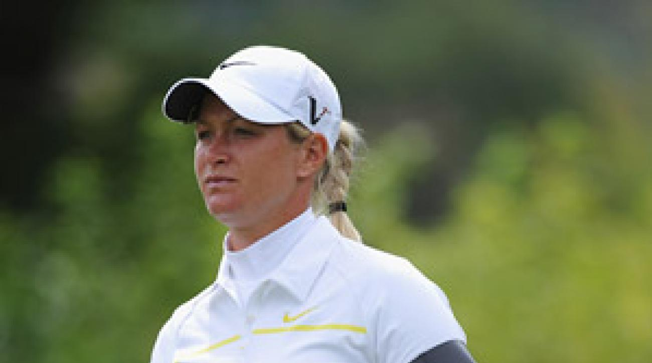 Norway's Suzann Pettersen wore a black armband on Saturday to honor those killed and wounded in Friday's attack in Oslo.