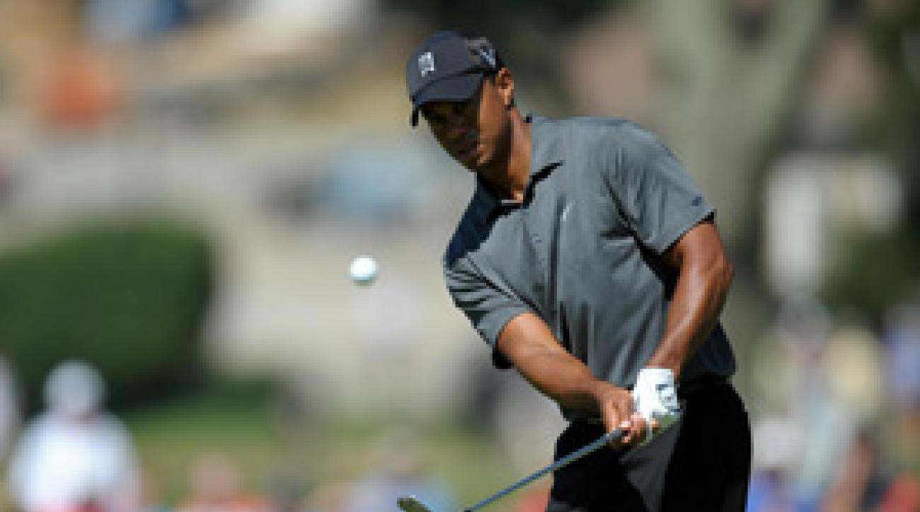 Tiger Woods shot even par on Saturday.