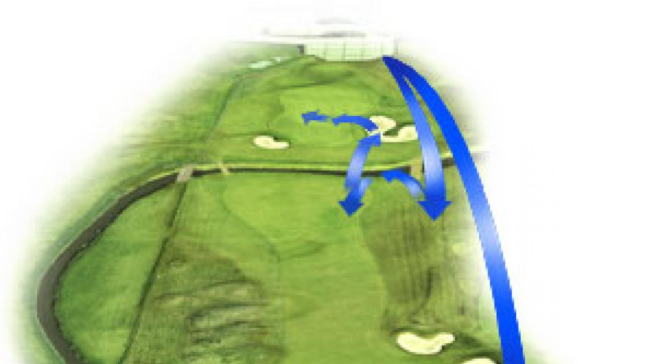 18th Hole<br />                 Par 4<br />                 487 yards