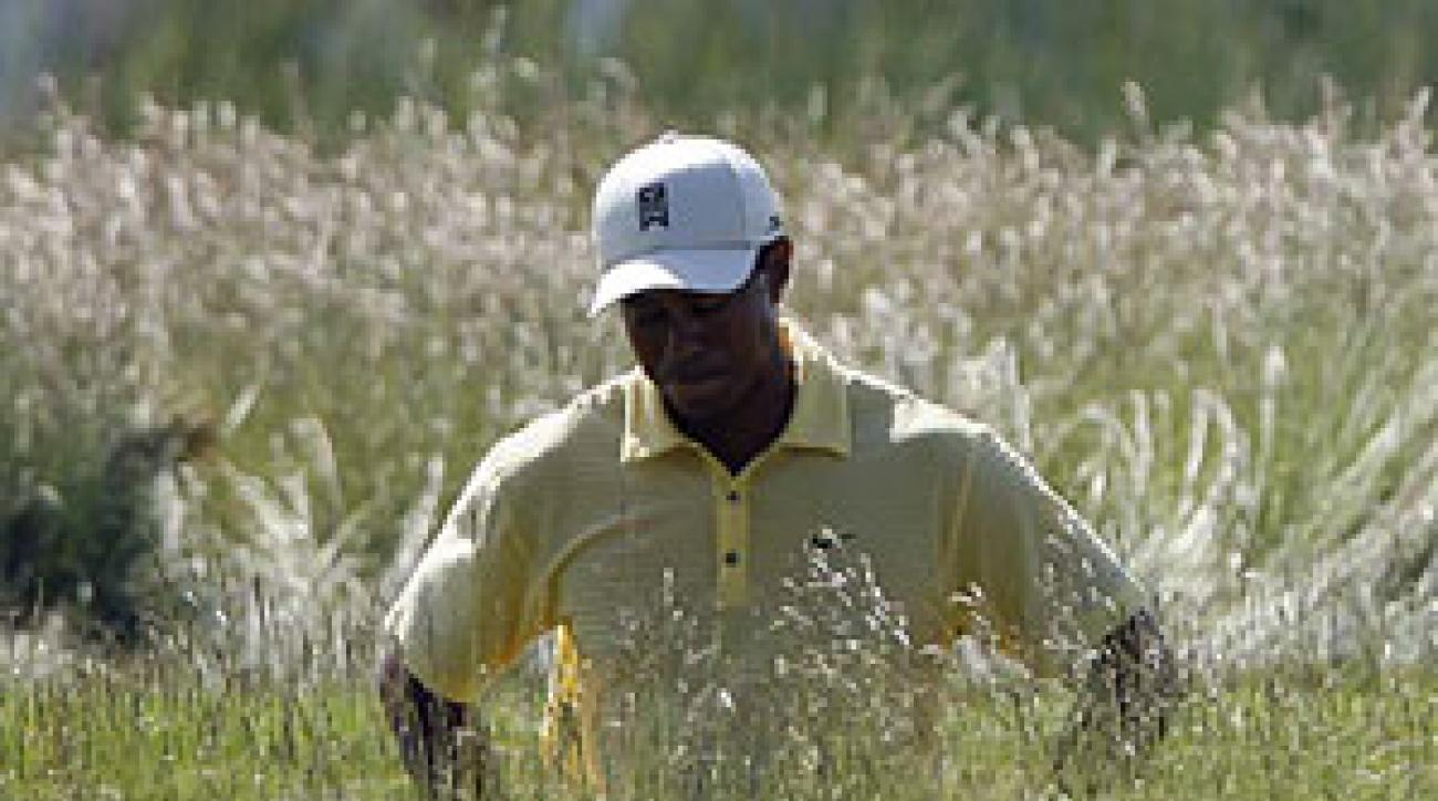 Tiger Woods had six bogeys and two birdies in his second round.