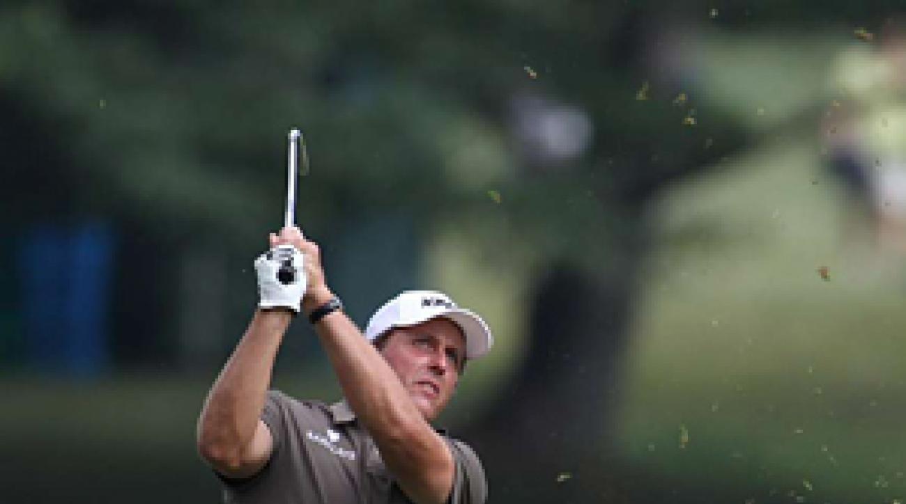 Phil Mickelson made five birdies, a bogey and a double bogey.