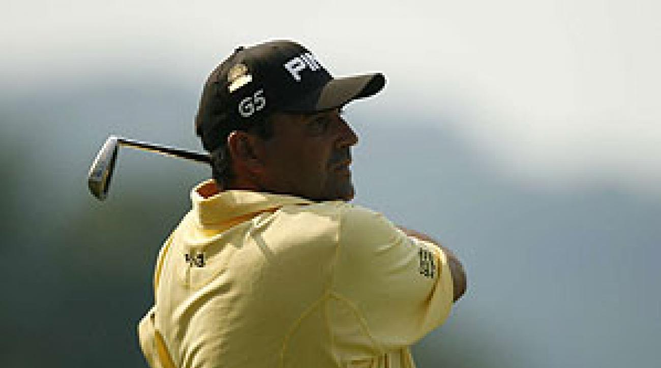 Angel Cabrera had three birdies on the front nine.