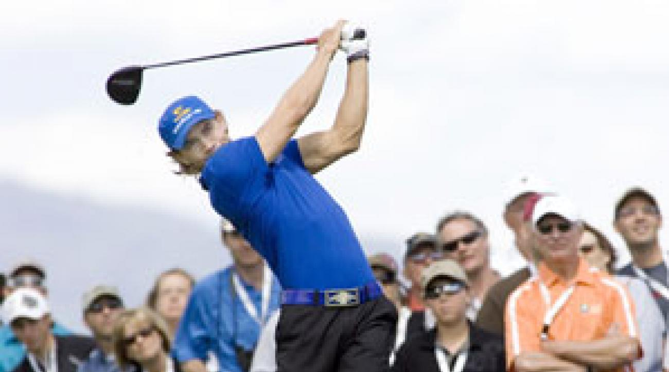 Camilo Villegas made more than $200,000 on Tuesday to win the two-day World Skins Game.