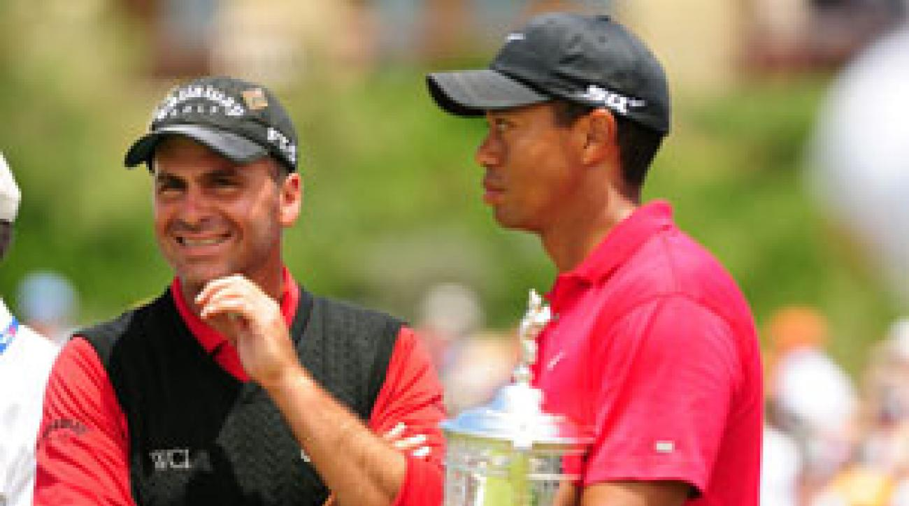 Rocco Mediate, left, lost the U.S. Open in a playoff to Tiger Woods.