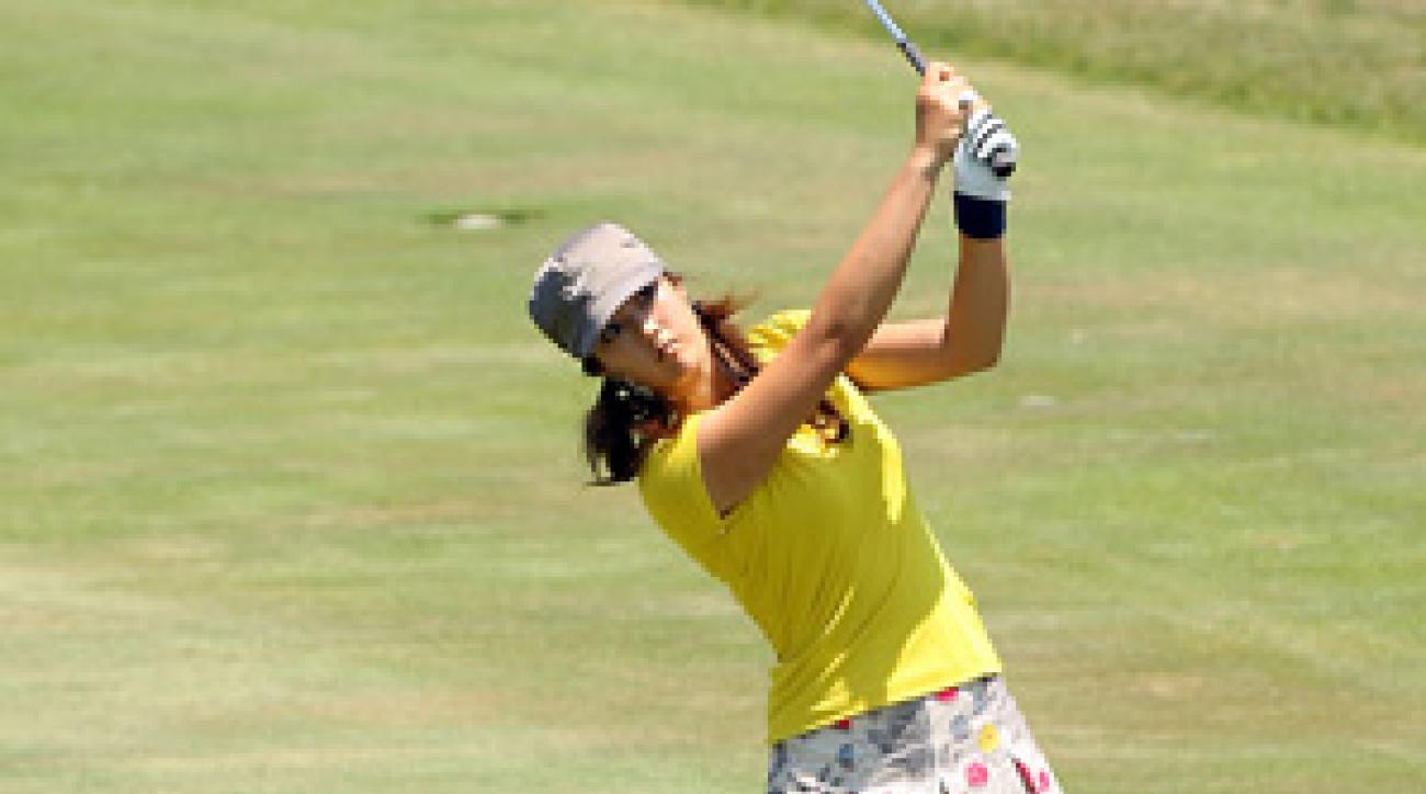Michelle Wie shot an 11-over 83 Saturday.