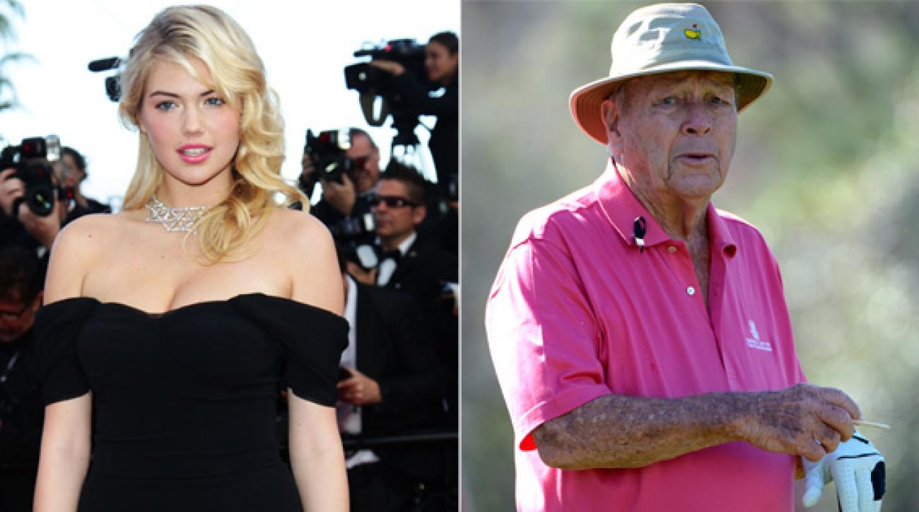 Kate Upton is in Orlando this week to see the work Arnold Palmer is doing at two local hospitals.