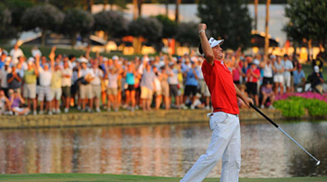 Keegan Bradley used a belly putter at Atlanta Athletic Club while winning the PGA Championship.