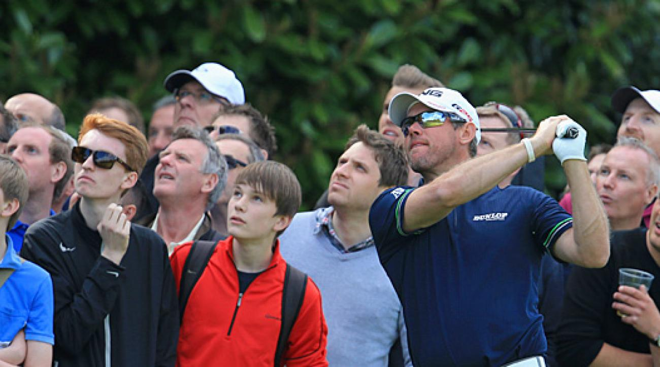 Lee Westwood made an eagle, four birdies and a bogey on Saturday.