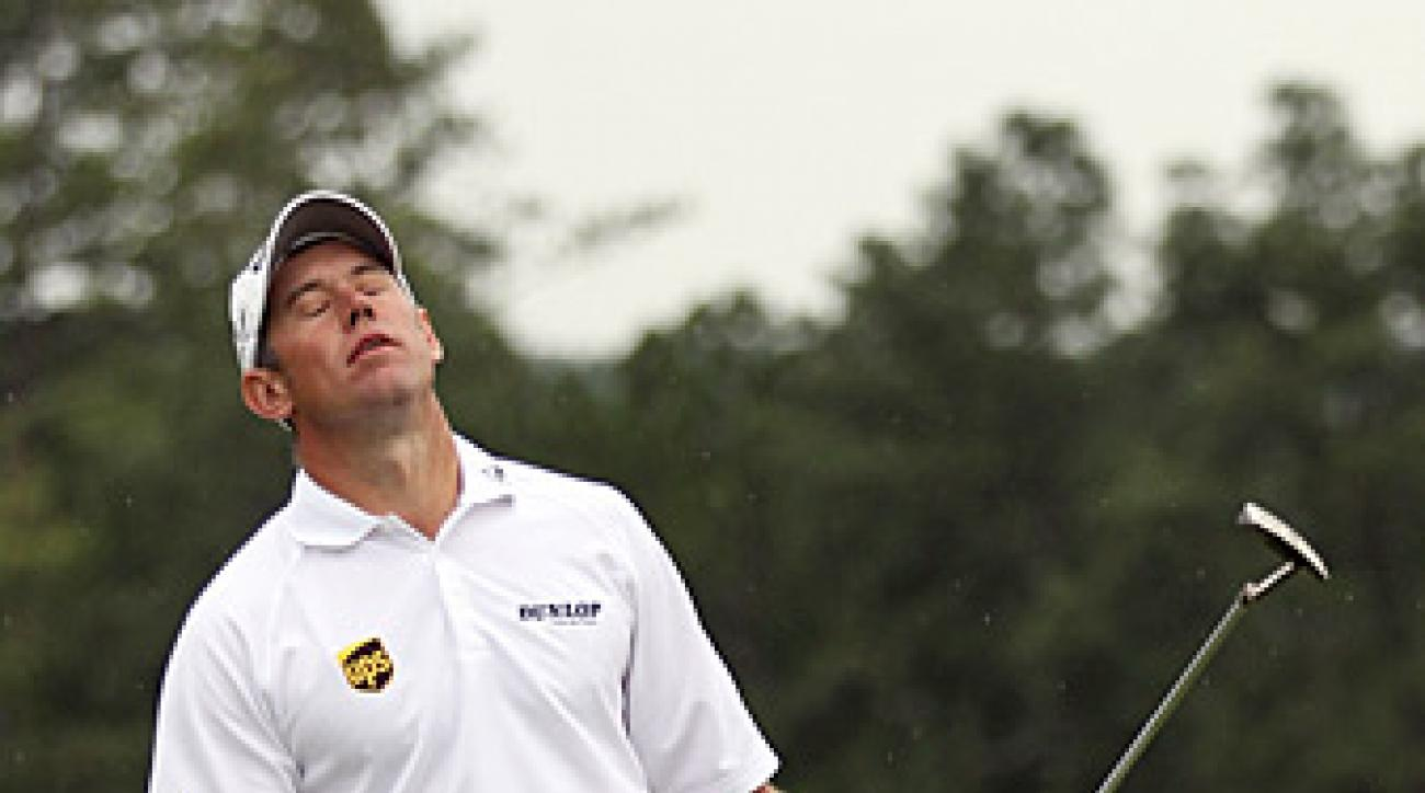 Lee Westwood missed a chance at birdie on the 18th hole, but still shot a 67 for a one-shot lead after Day 1.