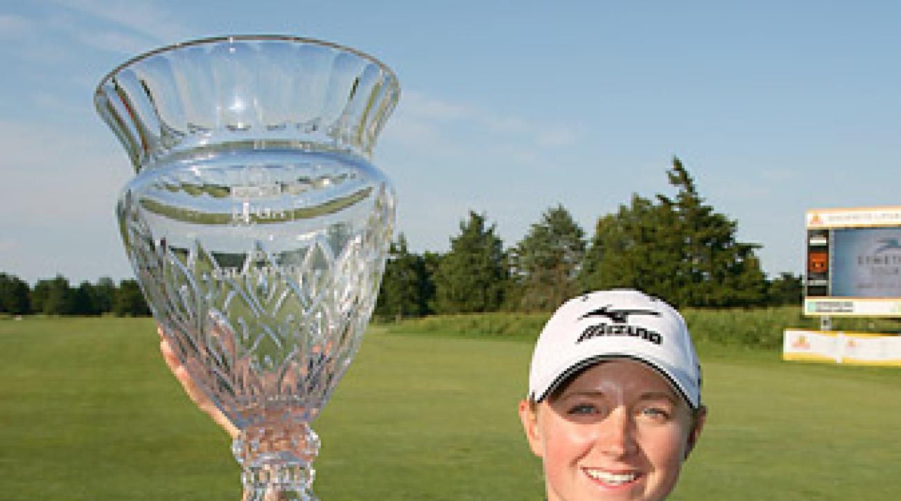 Lewis captured her second win of the year at the ShopRite LPGA Classic.