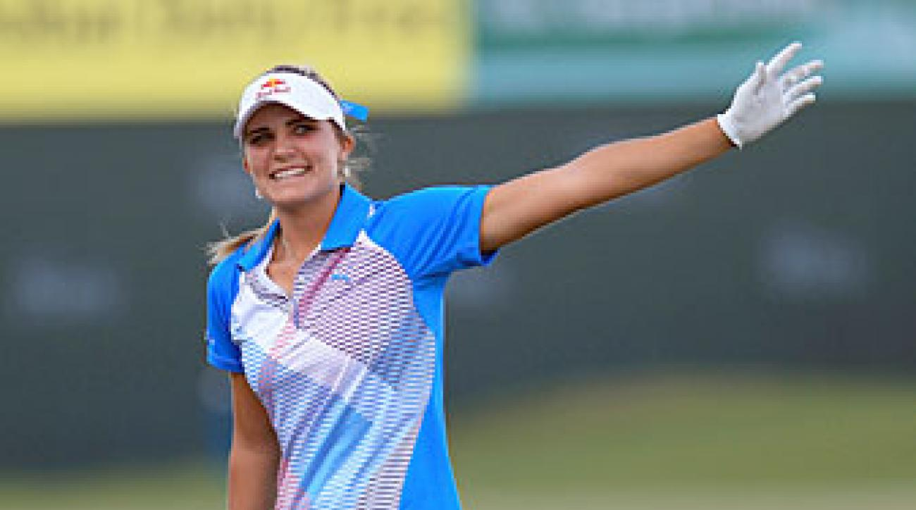 Lexi Thompson made four birdies on the back nine to win by four.