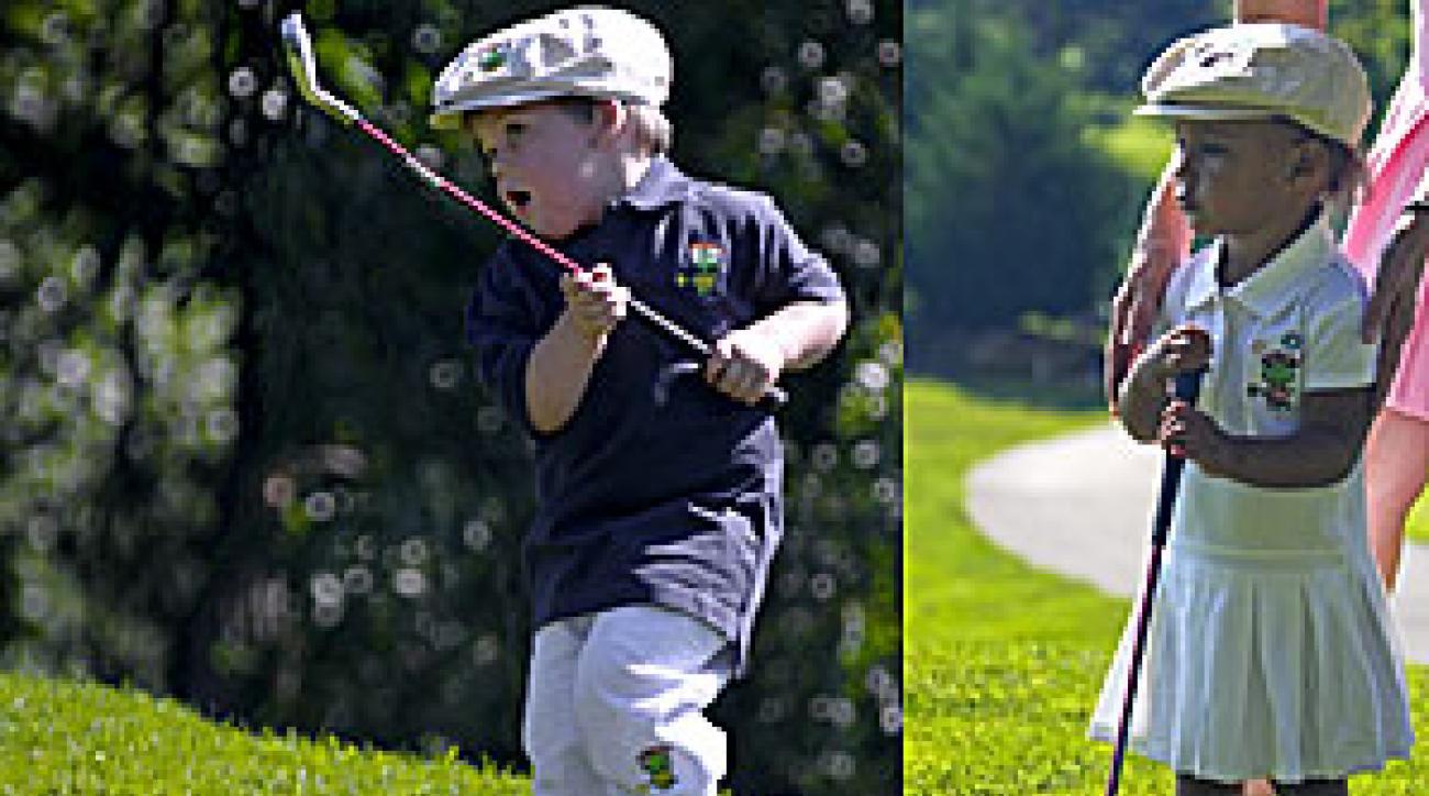 Children's golf clothes by the Littlest Golfer.