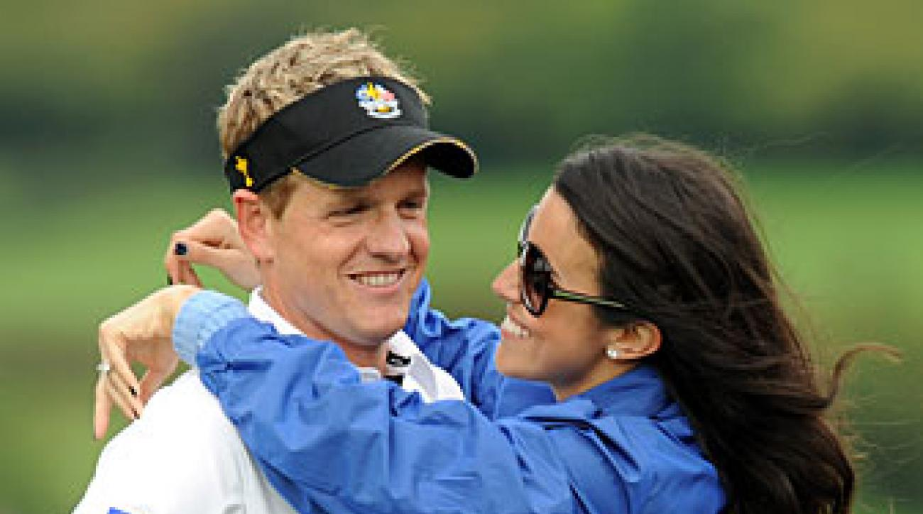 Luke Donald and his wife, Diane, at the 2010 Ryder Cup.
