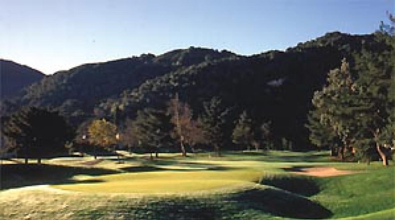 The 318-yard third hole at Carmel Valley Ranch.