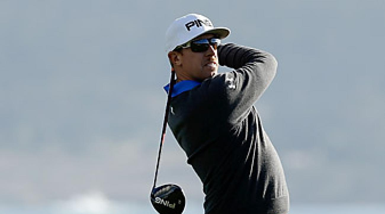Mahan opened with a 66 at Pebble Beach.