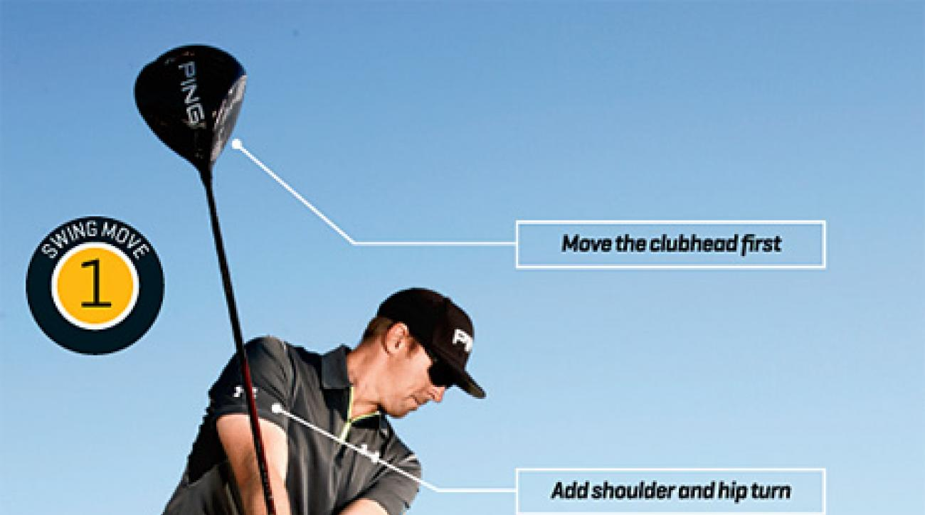 A smoother backswing leads to a faster downswing.