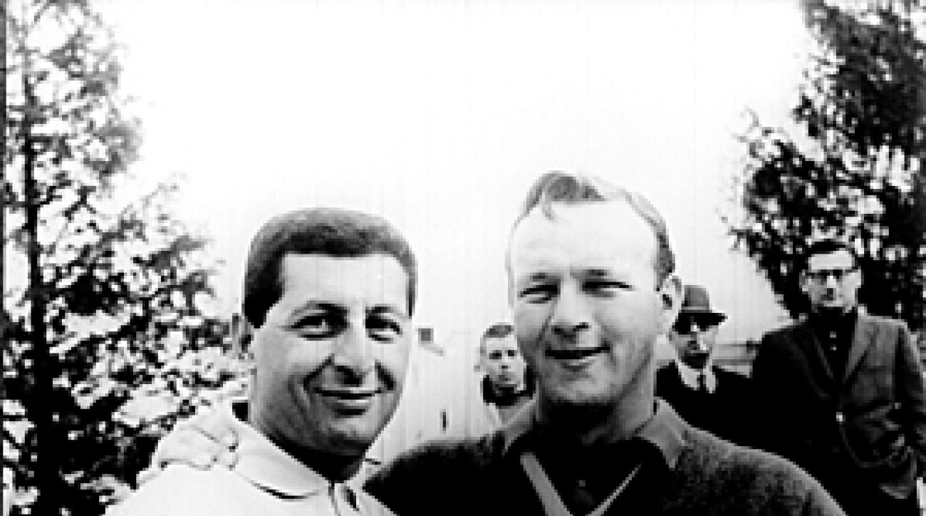 Frank Chirkinian, left, with Arnold Palmer in 1960.
