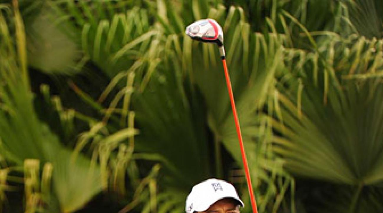 Woods shot an even-par 72 in the opening round.