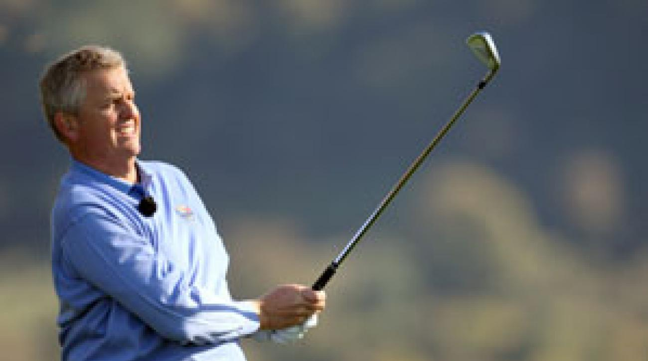 Colin Montgomerie said he wants to win a tournament before the Ryder Cup in October.