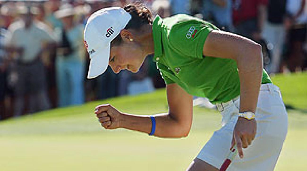 Lorena Ochoa made a crucial birdie putt on the 17th hole during the final round.