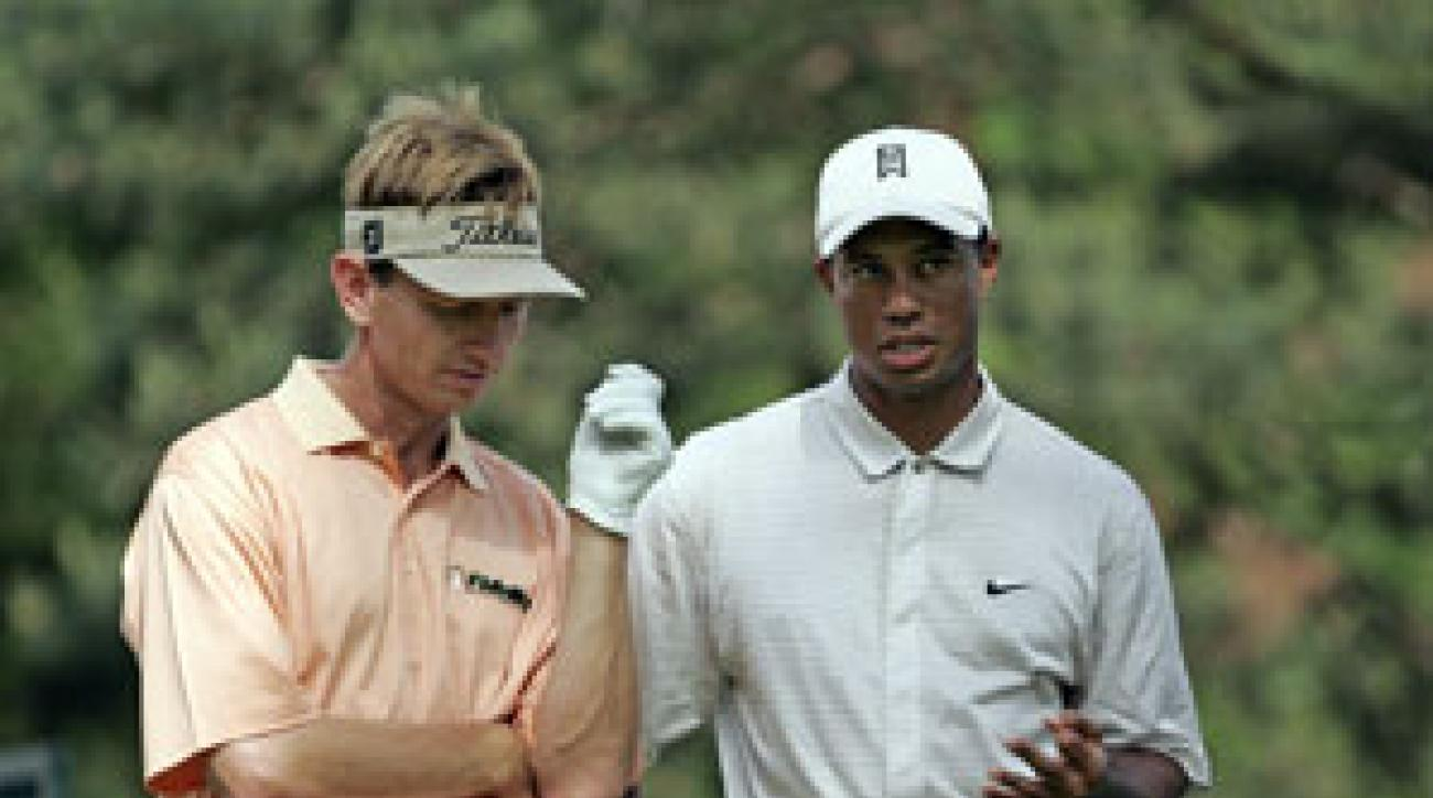 Faxon (left) says Woods's extramarital affairs are no one's business, but he'd like Tiger to address the treatment he received from a Canadian doctor.