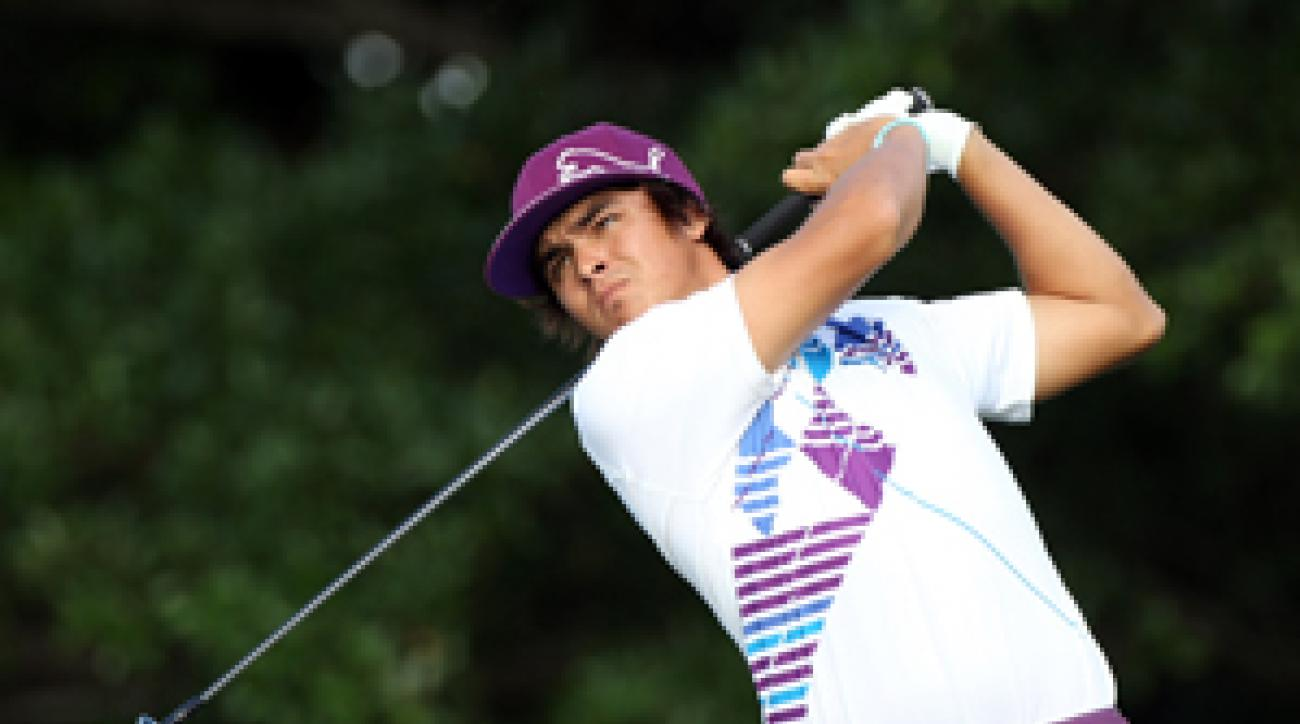 Rickie Fowler played with former Walker Cup captain Buddy Marucci at the exclusive Seminole pro-member tournament on Monday.