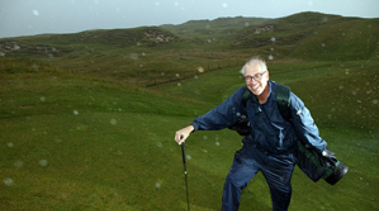 The author battled high winds at Carne.