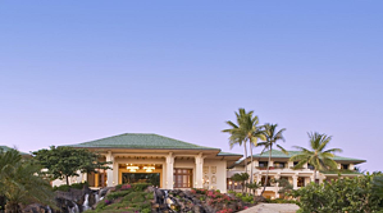 Sunset at the Grand Hyatt Kauai Resort & Spa.