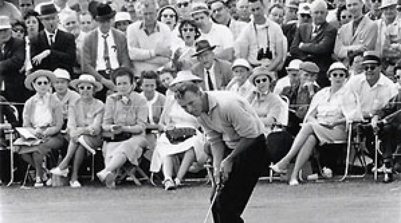 Arnold Palmer birdied the final two holes to win.