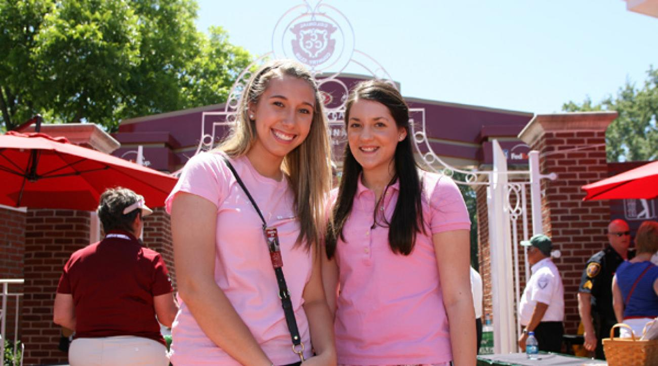 Several fans and volunteers also wore pink on Saturday.
