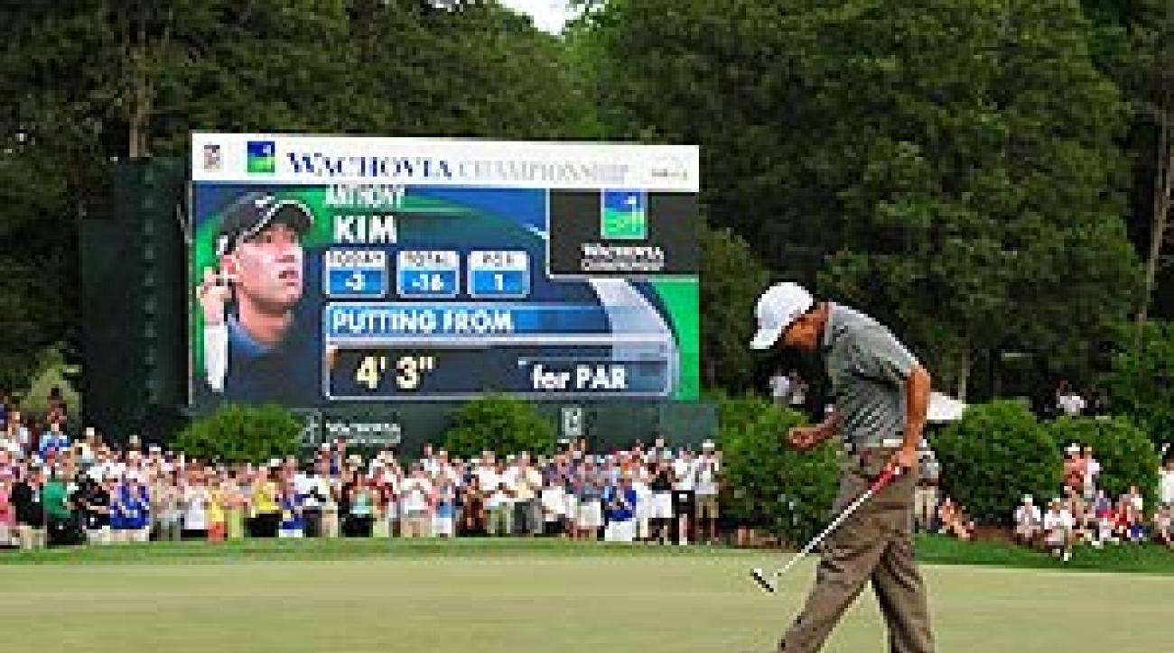 Anthony Kim won his first PGA Tour event at the 2008 Wachovia Championship