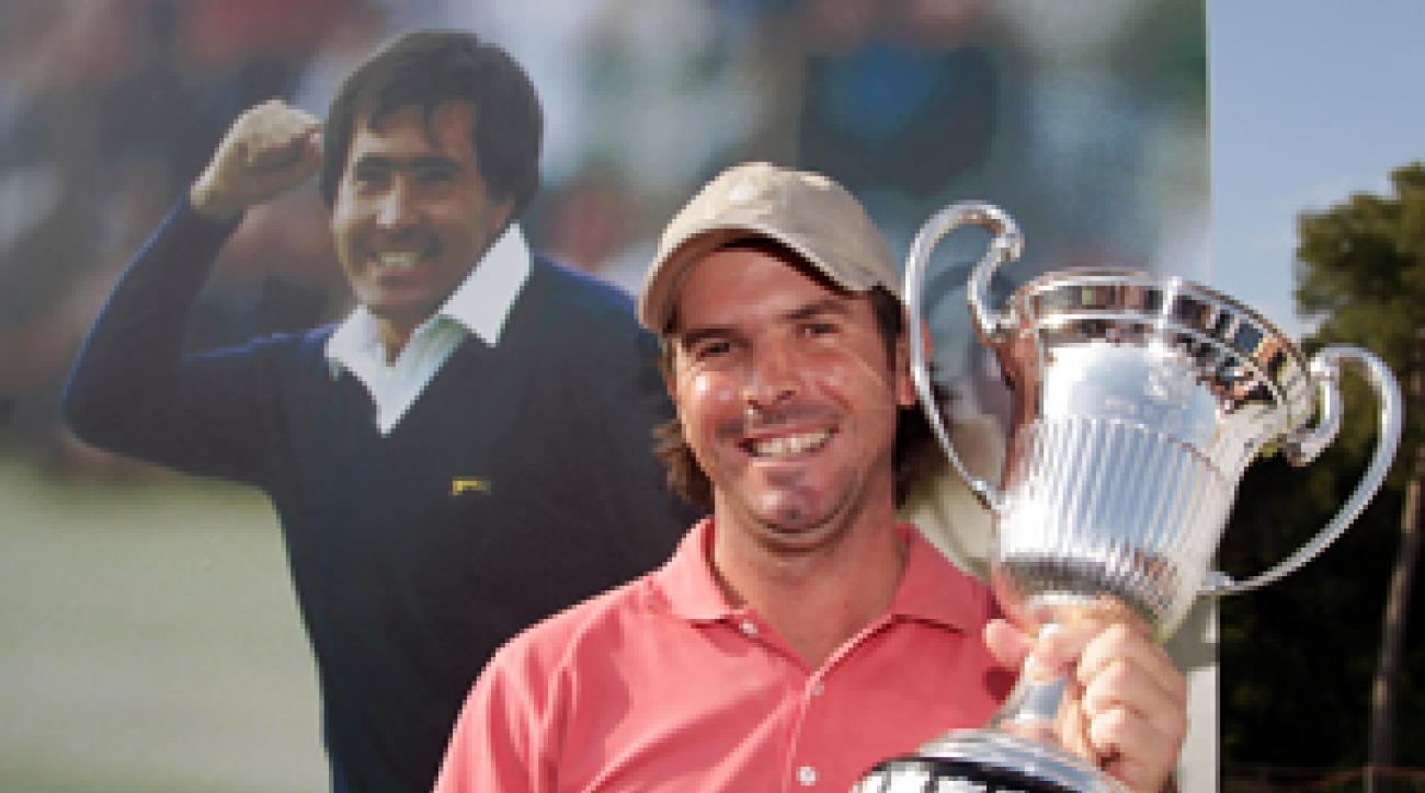 Thomas Aiken dedicated his first win to Seve Ballesteros.