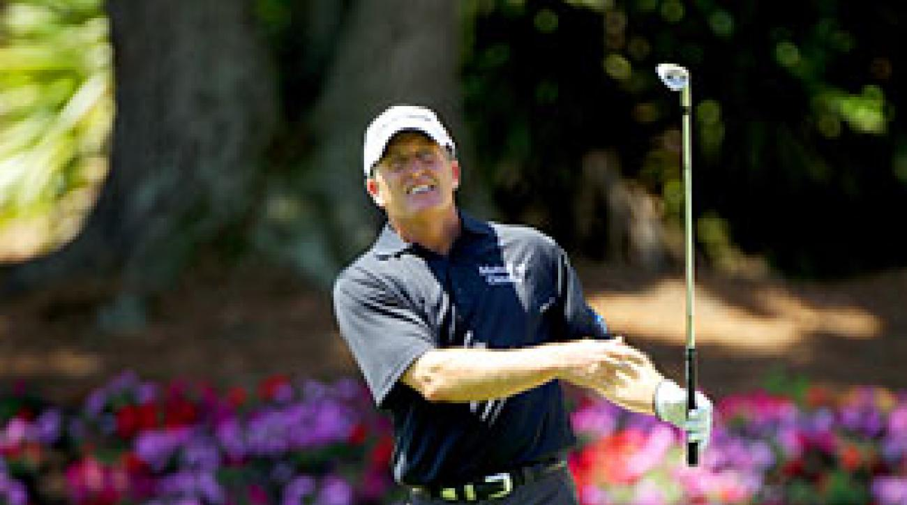 Fred Funk made six birdies, an eagle and two bogeys.