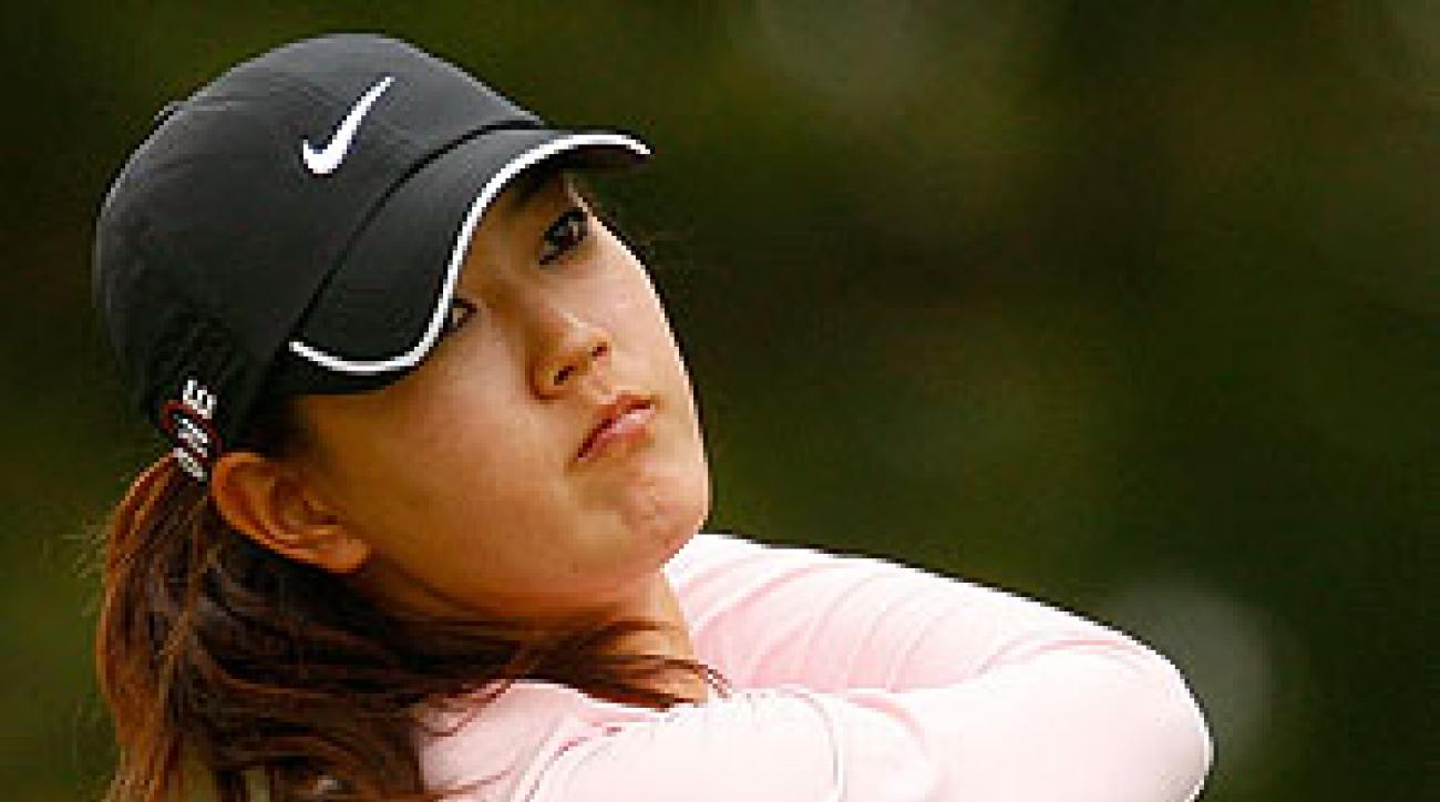 Michelle Wie shot a 72 before withdrawing.