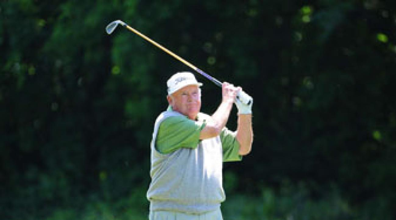 Miller Barber at the Liberty Mutual Legends of Golf in Savannah, Ga., in April 2008.