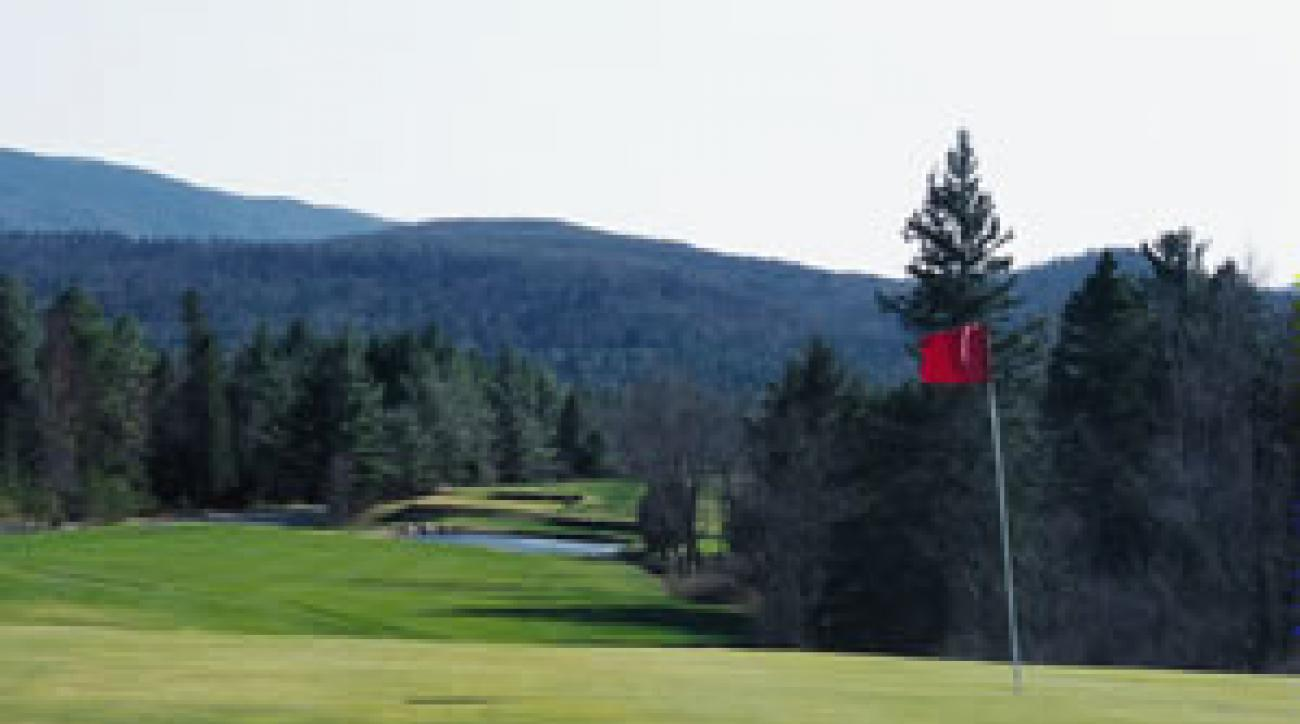 The par-4 3rd on the Lake Placid Club's Mountain Course