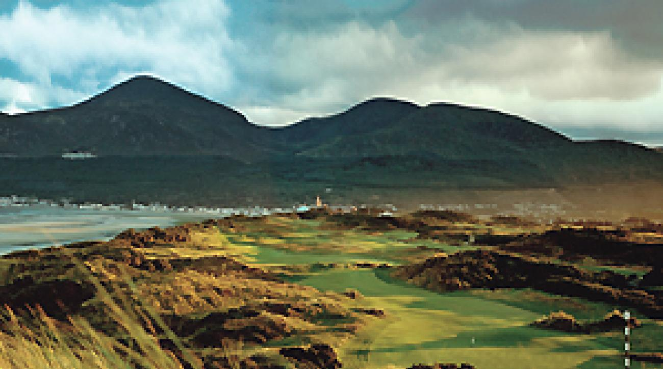 "The Mourne Mountains tower over the third at County Down. <span class=""picturesource"">Angus Murray</span>"