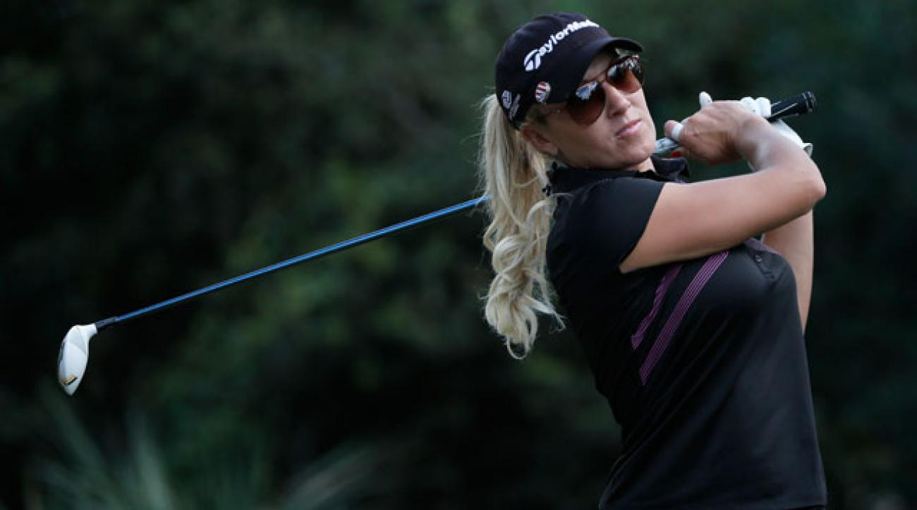 Natalie Gulbis plays a shot on the 17th hole at last season's CME Group Titleholders in Naples.