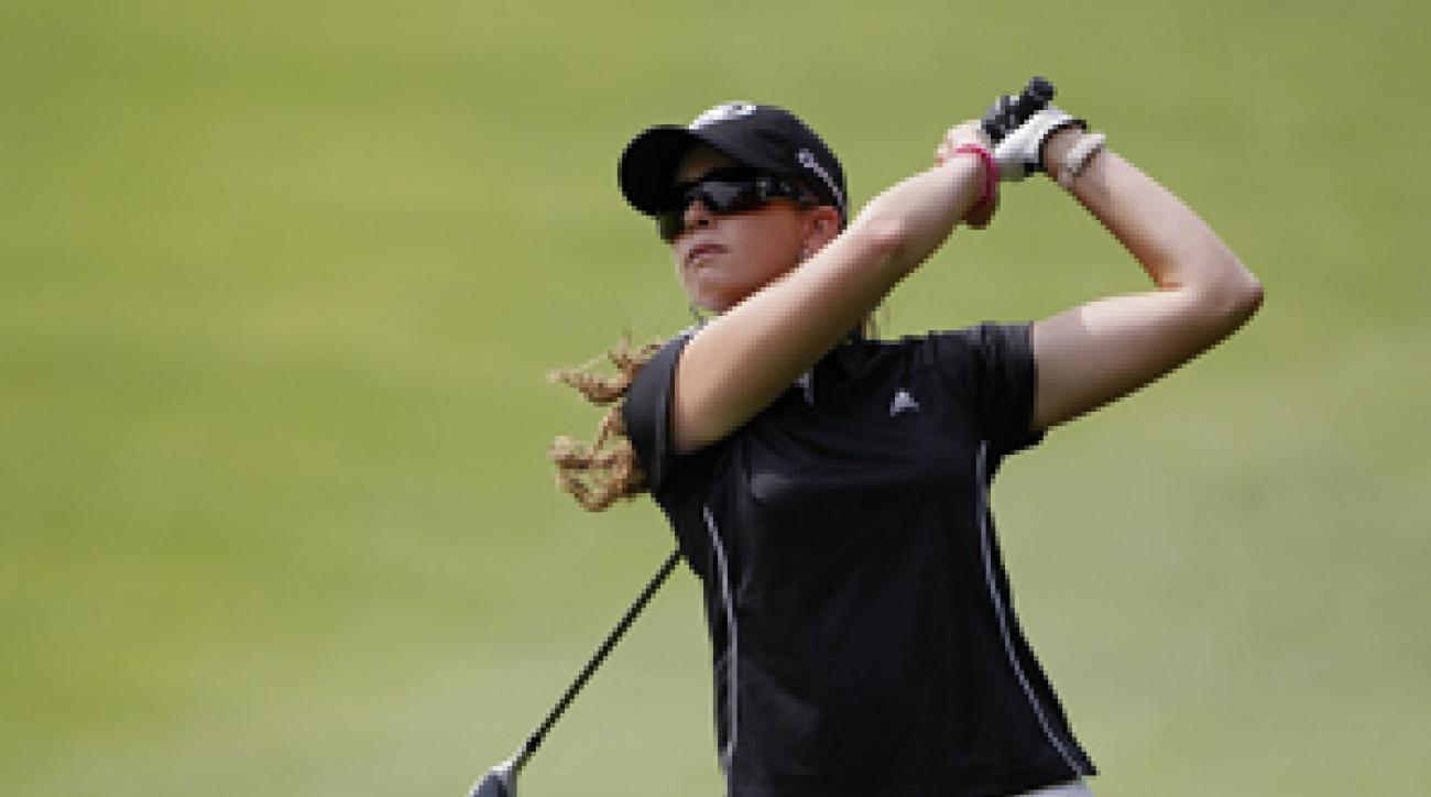 Paula Creamer birdied two of her last three holes to grab a one-shot lead.