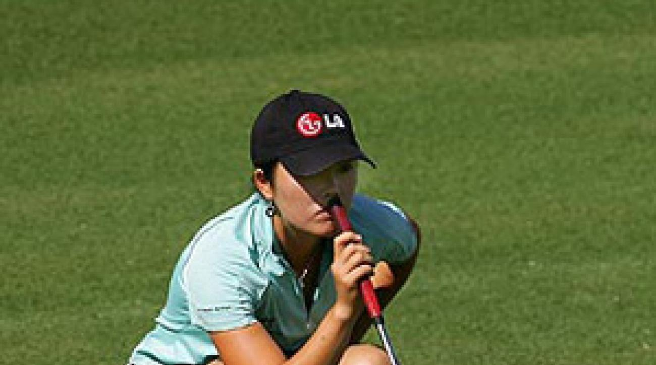 Angela Park started her day with three straight birdies and is tied for the lead with Paula Creamer.