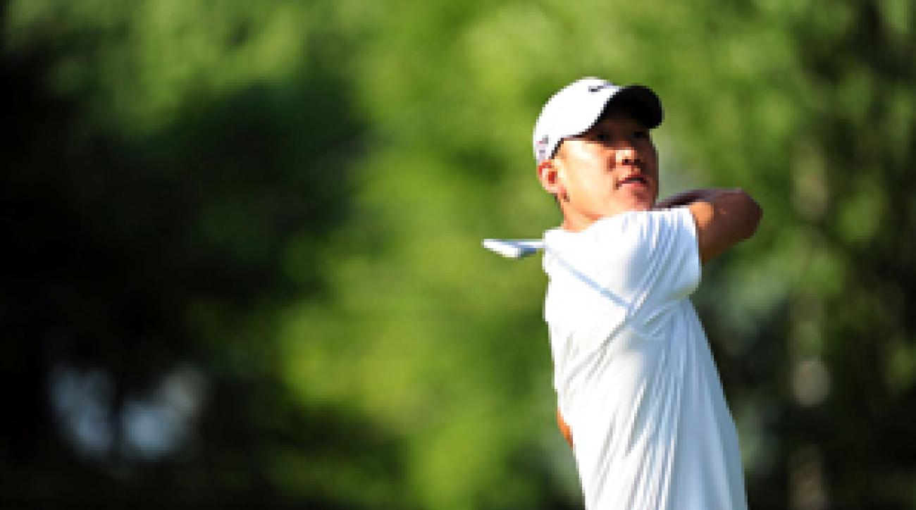 Anthony Kim says he withdrew from this week's event due to a sore thumb, not from partying in Las Vegas.